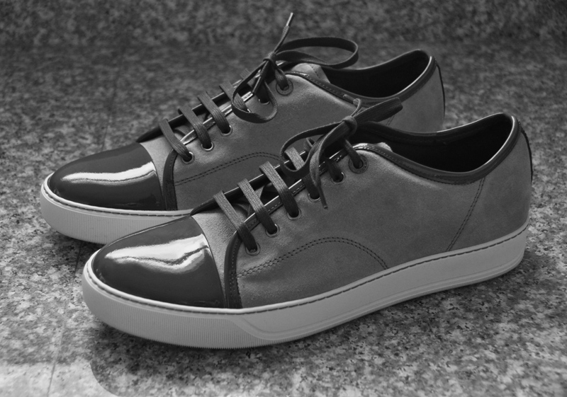 Lanvin Suede and Patent-Leather