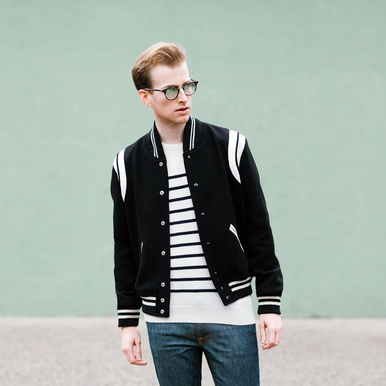 31b192ffcc8 Browsing tag: Yves Saint Laurent. The Varsity Jacket is Trending